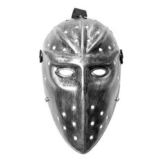 This long Jason Hockey mask in silver is the perfect scary mask for your next Halloween or other fancy dress event. Also good for Game of Thrones parties. Scary Halloween Masks, Scary Mask, Game Of Thrones Party, Fancy Dress, Hockey, Silver, Parties, Whimsical Dress, Fiestas