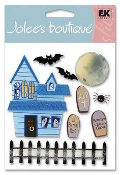 Halloween > Jolees > Scary Halloween Stickers - Jolee's Boutique: Stickers Galore  $4.39