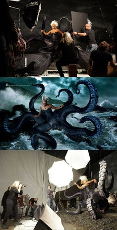 "Disney Dream Portraits by Annie Leibovitz | Queen Latifah as Ursula from ""The Little Mermaid."" #disney #Leibovitz"