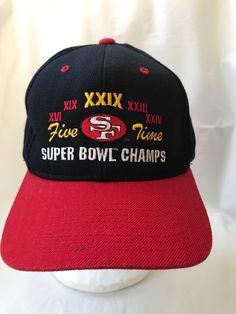 964d2386 Vintage San Francisco 49ers Super Bowl Champs Baseball Hat Cap #Headmaster  #BaseballCap 49ers Super