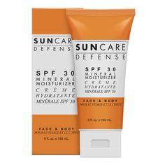 Suncare Defense® SPF 30 Mineral Moisturizer  @spadesoleil