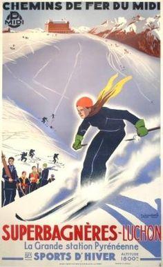 1000 images about affiches anciennes on pinterest - Office du tourisme bagneres de luchon ...
