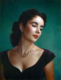 Clarence Sinclair Bull, Elizabeth Taylor, 1948, color print