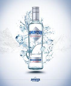 Amundsen Vodka / Concept by Tomas Zeman, via Behance