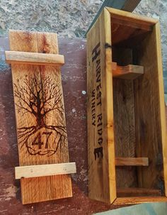 Single Bottle Wine Box  Reclaimed Pallet Wood by DEPalletCreations