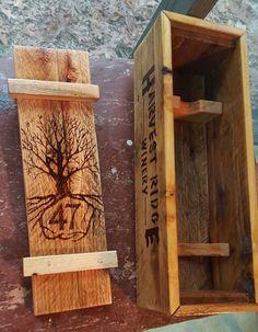 Single Bottle Wine Box  Reclaimed Pallet Wood by DEPalletCreations