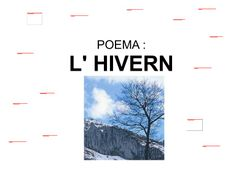 Poema hivern Open Office, Valencia, School, Winter Time, Winter Activities, Phonological Awareness, Seasons Of The Year, Sayings, Poems
