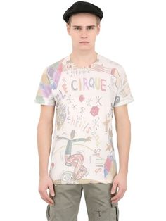 BOB - CIRCUS PRINTED COTTON T-SHIRT - LUISAVIAROMA - LUXURY SHOPPING WORLDWIDE SHIPPING - FLORENCE