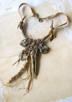 RESERVATION for Margaret Necklace Leather Amulet Talisman by boele