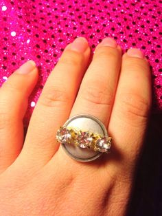 Metal Ring Metal Button Ring Rhinestone ring by GirlyCutie on Etsy #metal #Metal_ring #metal_button #ButtonRing #button_ring #ring #handmade #crystal #rhinestone #lovely #love #beautiful #amazing #girls #valentines'sGift #gift #girlycutie #promise_ring #couple_ring #ring_for_her #punk #fashion