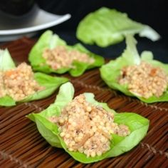 These Crab Couscous Lettuce Wraps are so good and a guilt free way to enjoy the benefits of both wraos and seafood, enjoy! Seafood Dishes, Seafood Recipes, Appetizer Recipes, Appetizers, Appetizer Ideas, My Favorite Food, Favorite Recipes, Couscous Recipes, Savory Snacks