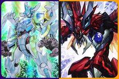 A Collage Featuring Both Stardust Warrior & Odd-Eyes Raging Dragon. #yugioh #anime #collage #2 #yugioh5ds #purple #wind #warrior #synchro #stardustwarrior #yugioharcv #orange #dark #dragon #xyz #pendulum #oddeyesragingdragon