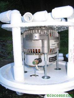 Navegando me encontré con este curioso diseño de turbina hidráulica hecha por muy bajo costo