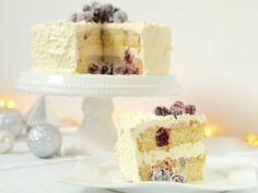 Wildes Schneegestöber und eine wunderbare Weihnachtstorte mit Schokolade und Cranberries. Was könnte es zur Adventszeit besseres geben?