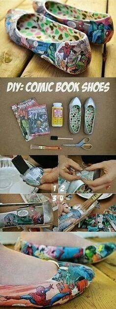 Awesome diy comic book flats