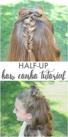 Half-up bow combo tu