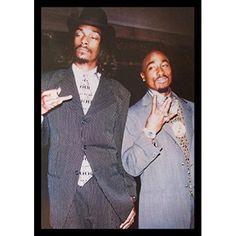 """buyartforless Framed """" Suits - 2Pac And Snoop Dogg"""" Music Art Print poster,  #buyartforless"""