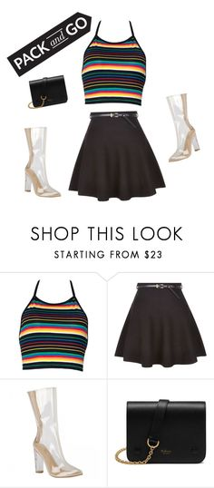 """""""Silver shoes"""" by yazzyandfashion ❤ liked on Polyvore featuring New Look, Mulberry, tokyo and Packandgo"""