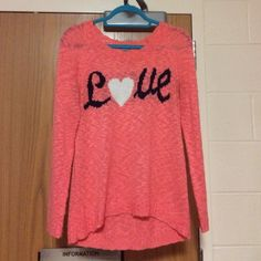 Love Sweater Perfect condition! Charlotte Russe Sweaters