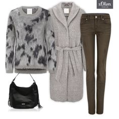 Check out 1 coat - 3 styles #soliver #coat #bag #grey