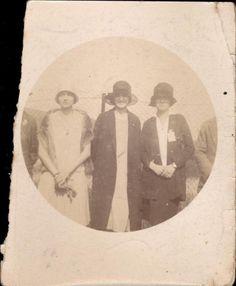 snapshot trois femmes 29 mai 1927 fête de gymnastique de Pont-a-Mousson sport