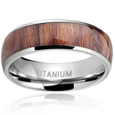 Jstyle Titanium Engagement Rings for Men Vintage Wedding Band 8mm Size 7