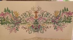 The deer head picture from The Enchanted Forest coloring Book. Johanna Basford is the artist;