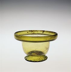 Roman Glass: Bowl with Heavy Hollow Folded Rim, 400-599 | Corning Museum of Glass