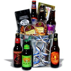 Beer Gift Baskets: If he's a beer lover, we've got the perfect beer gift basket for him! Choose from beer bucket gifts, beer basket gifts, microbrew gift baskets! Best Gifts For Him, Gifts For Dad, Fathers Day Gifts, Gifts For Beer Lovers, Beer Gifts, Lovers Gift, Baskets For Men, Gift Baskets, Gift Hampers