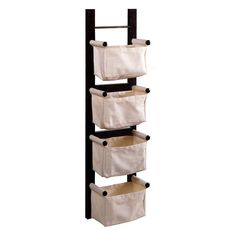 Winsome Wood Magazine Rack, Espresso: This magazine rack is a convenient and attractive storage unit.With ability to hang vertically or horizontally. Its 4 canvas baskets are great to keep your room in order. Magazine Wall, Magazine Storage, Wood Magazine, Ideas Magazine, Storage Rack, Storage Baskets, Wall Storage, Nursery Storage, Toy Storage