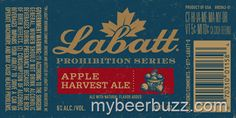 mybeerbuzz.com - Bringing Good Beers & Good People Together...: Labatt Prohibition Series - Apple Harvest Ale