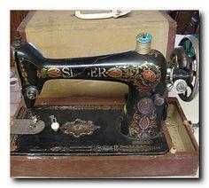 Antique Singer scroll design