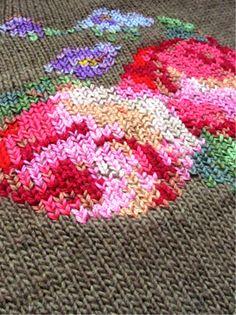 Вышивка на вязаном свитере (DIY) / Вышивка /