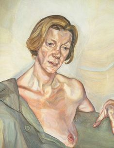 Woman with a Bare Breast Oil on canvas x cm, Lucian Freud Sigmund Freud, Lucian Freud Portraits, Lucian Freud Paintings, Robert Rauschenberg, Edward Hopper, David Hockney, Kandinsky, Figure Painting, Painting & Drawing