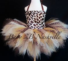 Girls Safari Cheetah Tutu Costume Size 2-4T by Baby2BNashville