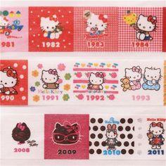 Hello Kitty anniversary history mt Washi Masking Tape deco tape 1