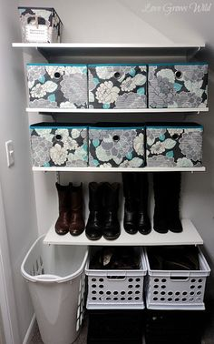 Shoe Organization that really works! Easy storage solutions for kids and adults! By Love Grows Wild #shoe #organize #closet