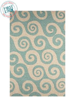 Making waves at #lvmkt = New Coastal Living™ area #rugs from @jaipurrugs are polypropylene construction, so they're primed for indoor and outdoor use.