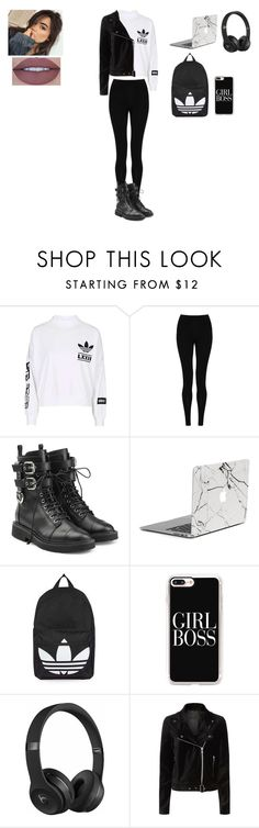 """Başlıksız #398"" by belinda-bailey ❤ liked on Polyvore featuring adidas, M&S Collection, Giuseppe Zanotti, Topshop, Casetify, Beats by Dr. Dre and Paige Denim"