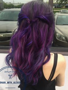 Pravana vivids purple, blue, and magenta. @hair_with_alexisc