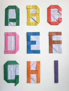#DIY alphabet with origami #origami, #DIY