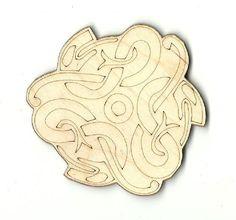 Three Snake Design Unfinished Laser Cut Wood Shape REP2
