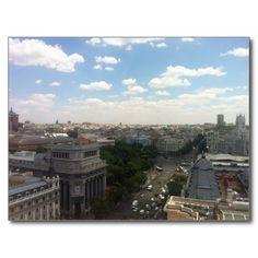Madrid View #spain #madrid #view #gift #postcard