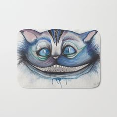 Cheshire Cat Grin - Alice in Wonderland Bath Mat by Mille Dørge. Worldwide shipping available at Society6.com. Just one of millions of high quality products available.