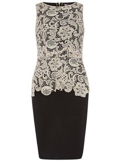 Mocha lace top peplum dress
