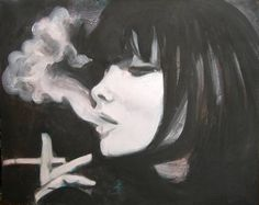Drawing Girl Smoking Paintings 53 Ideas For 2019 Smoke Drawing, Smoke Painting, Smoke Art, Stencil Painting, Spray Painting, Beautiful Tumblr, Beautiful Drawings, Cool Drawings, Cigarette Drawing
