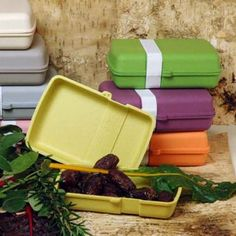 Brotdose Lunchtime von zuperzozial grün