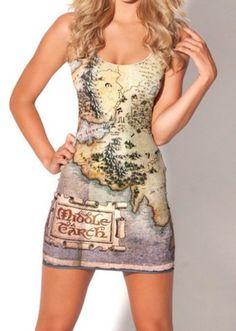 EAST KNITTING fashion BL-164 New 2013 women summer tops Fashion The Hobbit Map Dress woman Clothings Free Shipping 1366401658