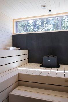 Combine sauna and ofuro? Sauna Infrarouge, Sauna House, Steam Sauna, Sauna Room, Saunas, Design Sauna, Outdoor Sauna, Finnish Sauna, Spa Rooms