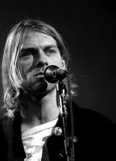 Kurt Cobain performs for MTV's Live and Loud - April 1993. Photo by Jeff Kravitz
